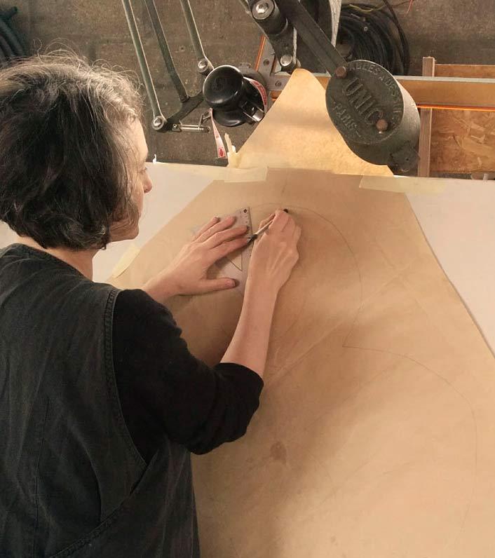 Artiste verrier réalisation du carton
