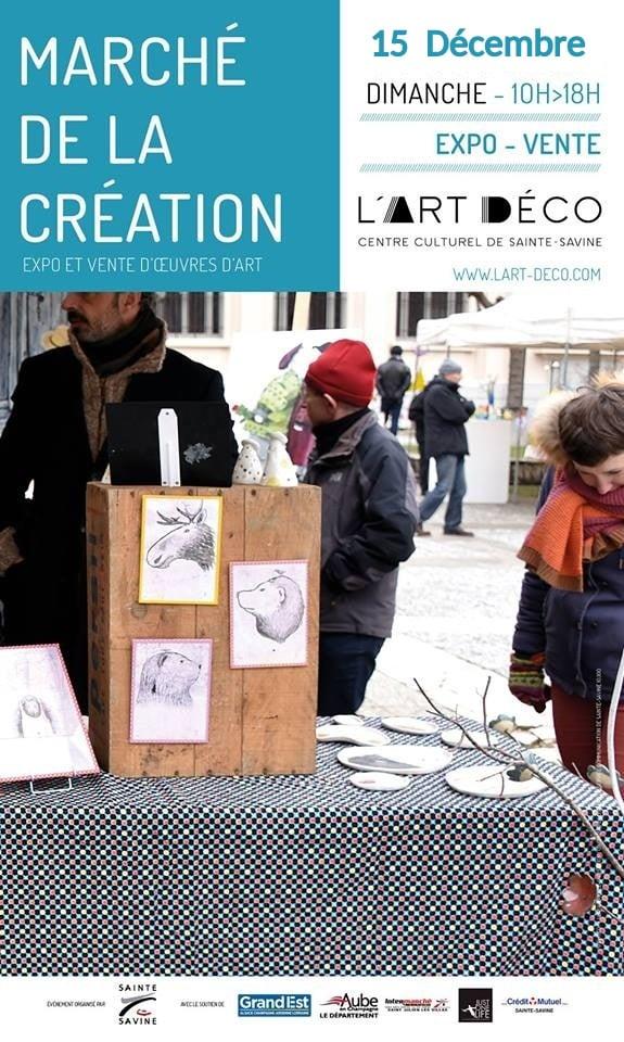affiche du marché de la création à sainte savine